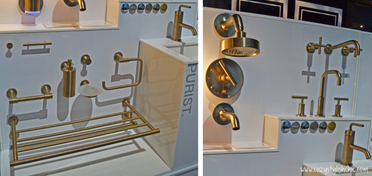 antique brass from Kohler's Purist Collection via www.cozystylishchic.com