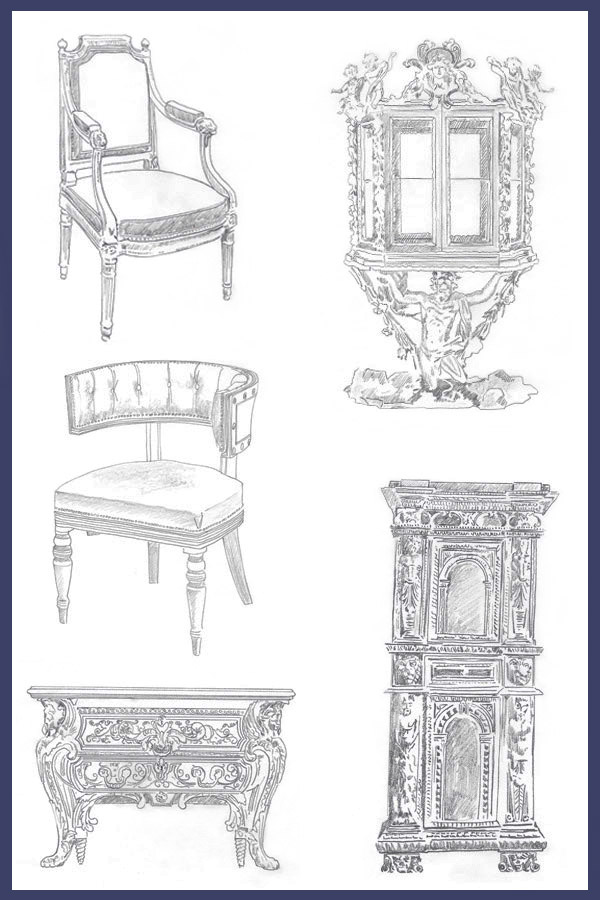 Historical Styles tracings -Jeanne Chung // Cozy Stylish Chic