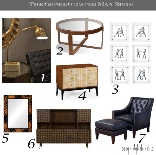 The Sophisticated Man Room by Cozy•Stylish•Chic