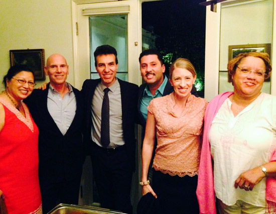 LA Design gang with Giuseppe Perrone, Consul General of Italy