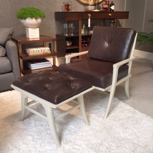 The Lena Accent Chair and Ottoman from Stanley Furniture via Cozy Stylish Chic