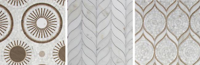 Walker Zanger's Tangent Colletion of mosaic stone tile via cozystylishchic.com