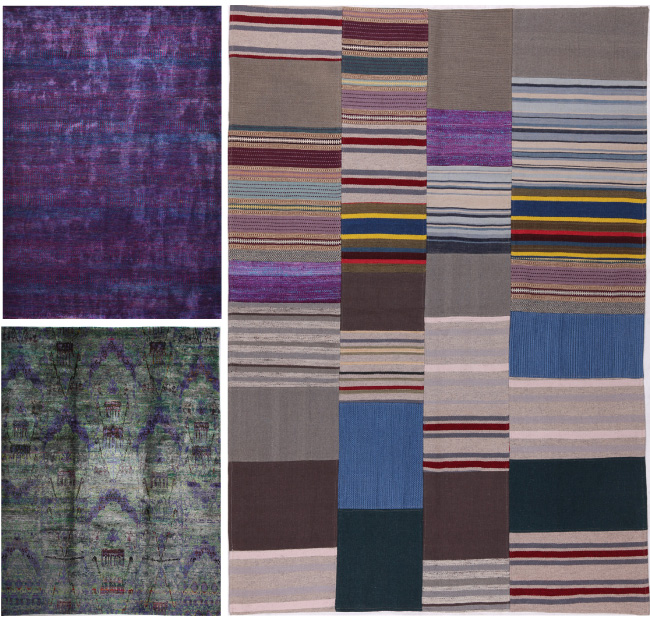 W-Schillig-purple-grey-rugs debuting at High Point Market #HPMkt