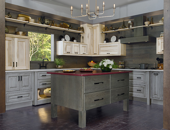 Top Kitchen and Bath Trends 2017 - Natural and grey stained wood finishes