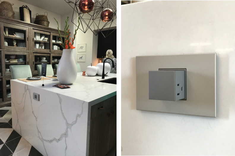 imperative to demonstrate how one can remain connected while in the  kitchen  Underneath the upper cabinets is the adorne Under Cabinet Lighting  system Legrand Lighting Technology and the 2017 HGTV Smart Home. Adorne Under Cabinet Lighting System. Home Design Ideas
