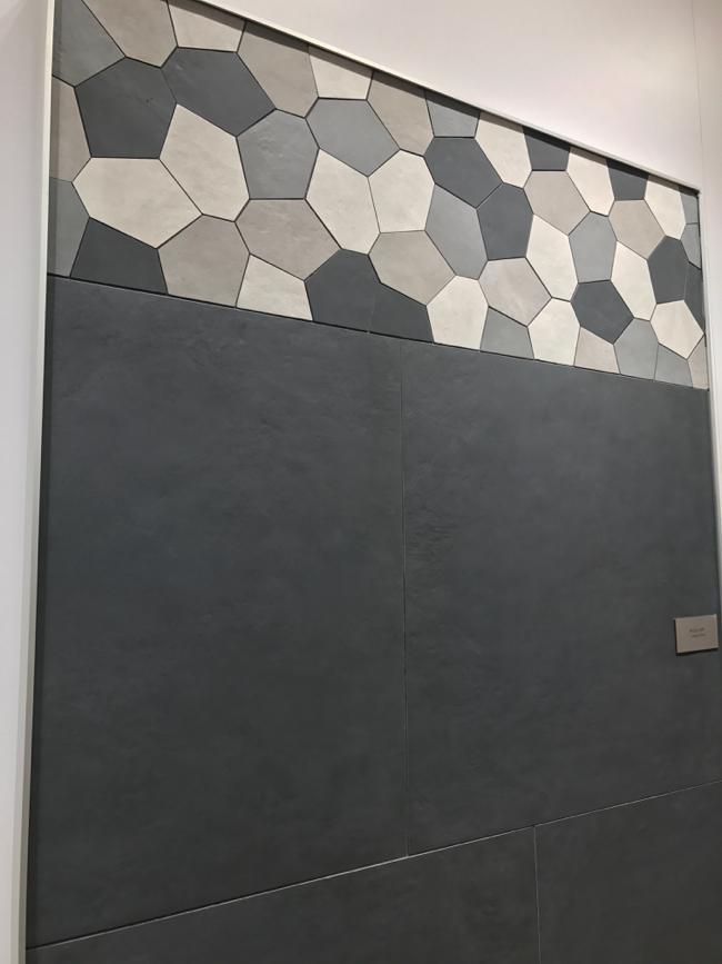 Coverings 2017 - matte black tile trend