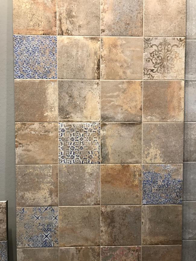 Coverings 2017 - Time/Weather worn tile trend