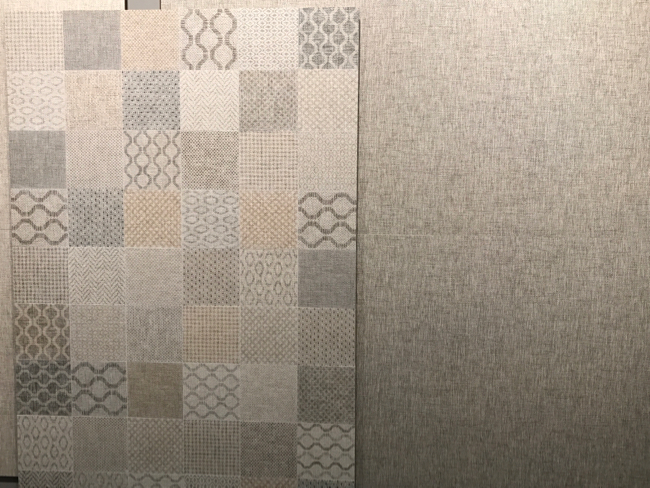 Coverings 2017 - textile tile trend