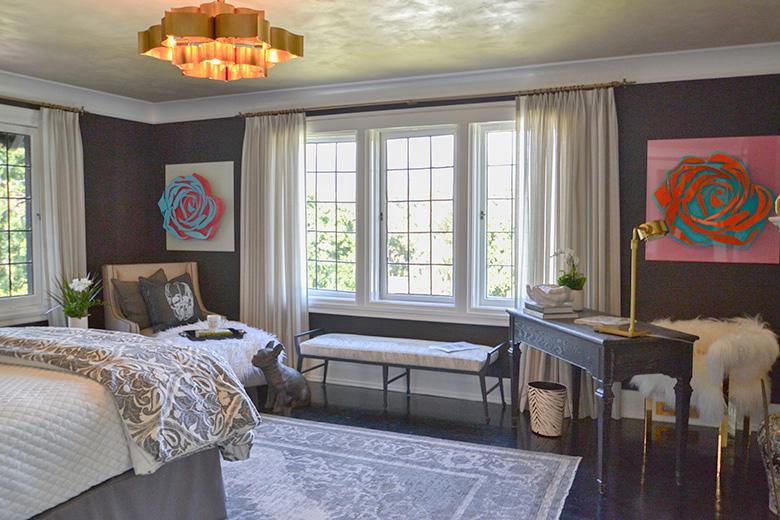 Glam Rock Teen Bedroom at the 2017 Pasadena Showcase House, photo: Cozy Stylish Chic