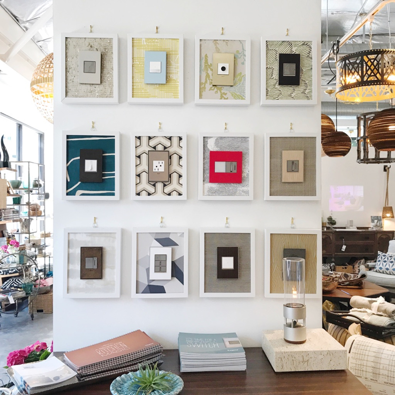 Designer light switches and wall plates from adorne by Legrand - Showroom and photo: cozystylishchic.com