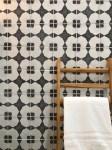 modern black and white inkjet patterned tile