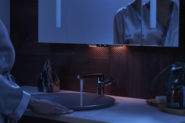 Verdera voice lighted mirror by Kohler using Kohler Konnect