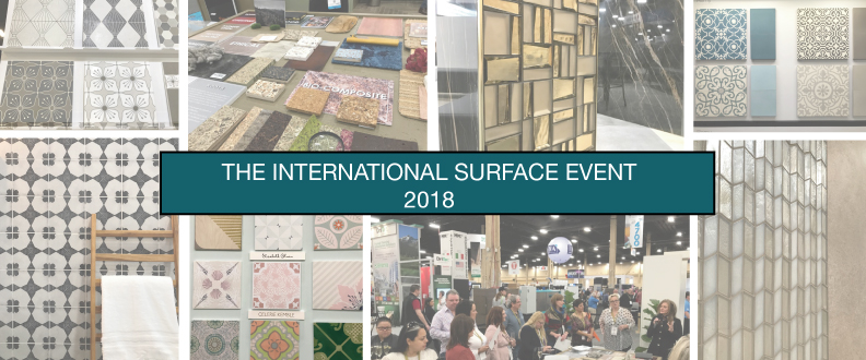 2018 tile trend montage at The International Surface Event - TISE