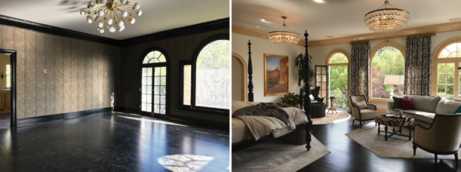 Pasadena Showcase House Before and After---Master-Bedroom