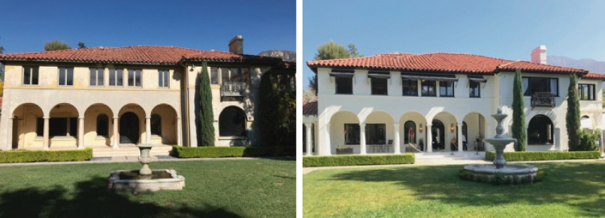 Pasadena Showcase House Before and After - front exterior