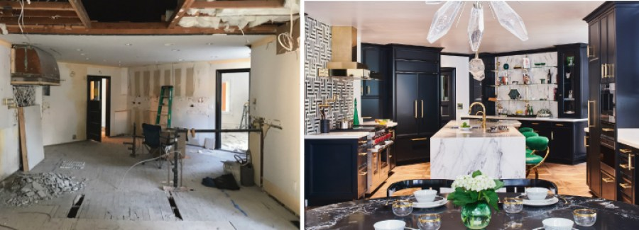 Pasadena Showcase House Before and After- kitchen