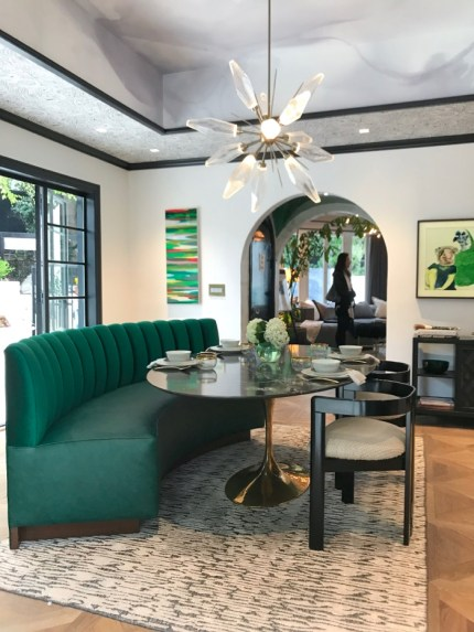 Pasadena luxury breakfast room with banquette