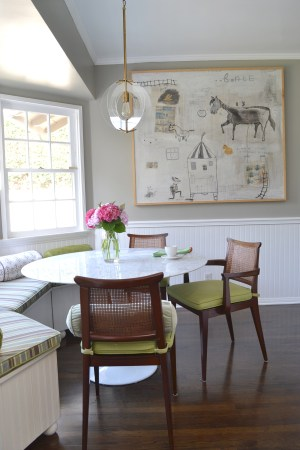 Mid century modern breakfast room by Pasadena interior designer Jeanne K Chung of Cozy Stylish Chic