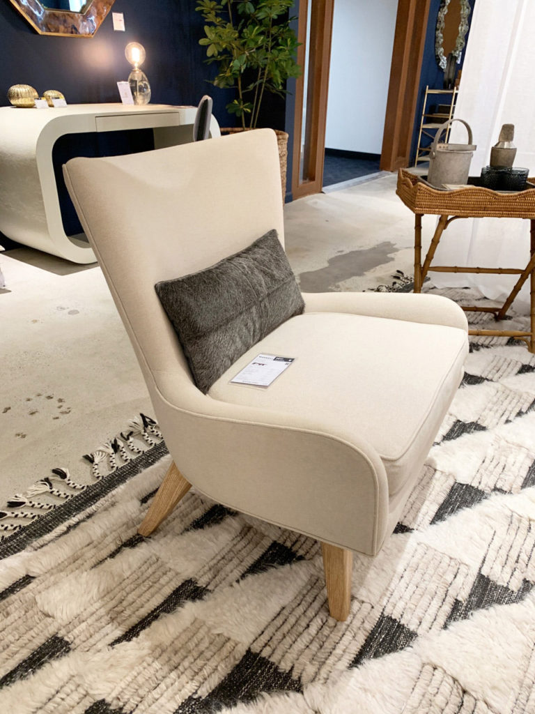 Cream lounge chair at Highpoint Market