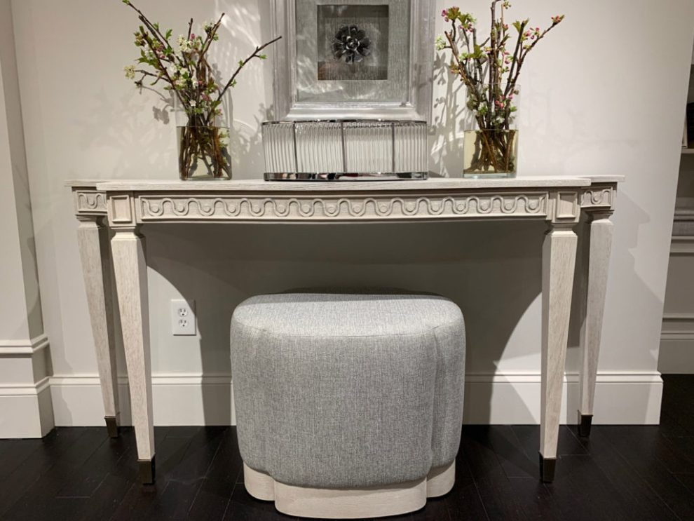 Decorative Frieze with buttoned accents - design trend spring 2019 at High Point Market