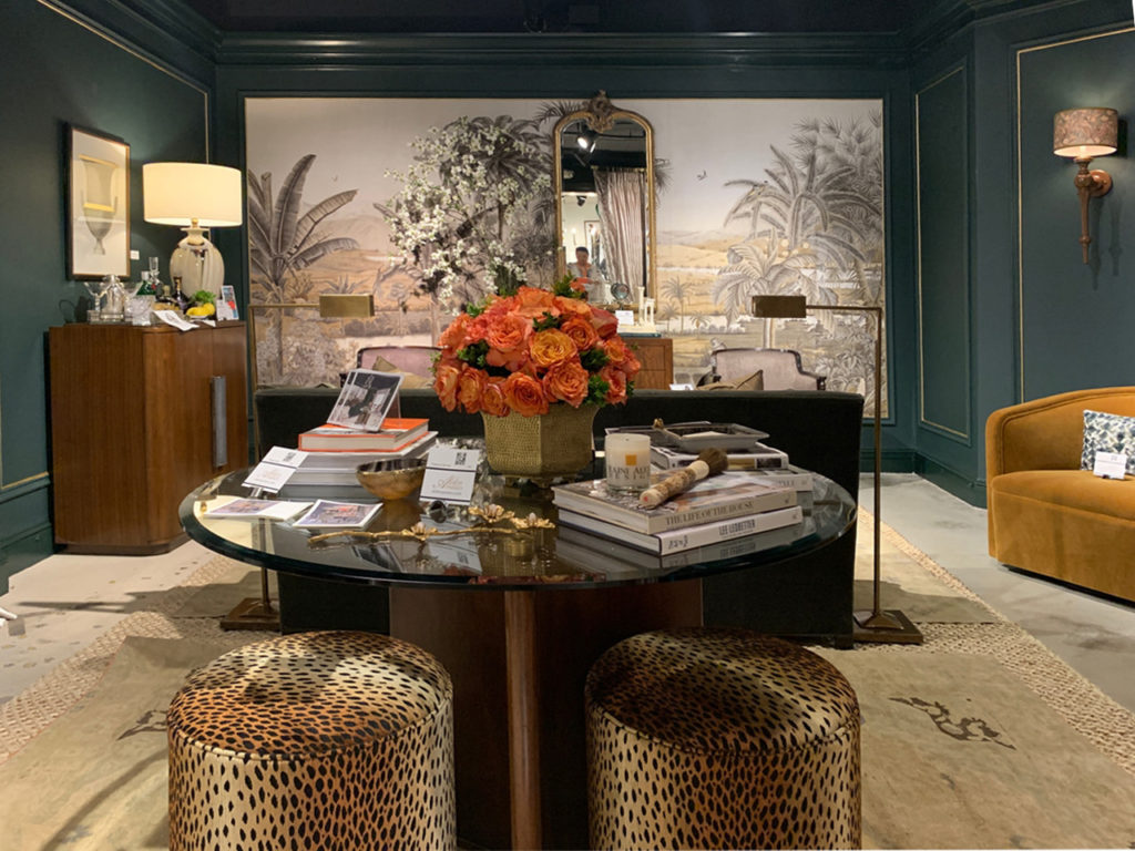 """""""Showhouse in a Showroom"""" in the Alden Parkes showroom at Highpoint Market"""