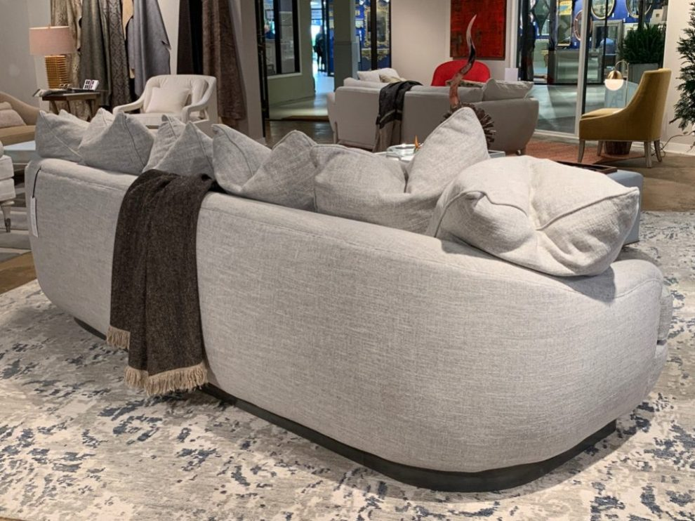 Bruce Andrews Paval Sectional Cuddle-Sofa Spring 2019 Design Trends - High Point Market