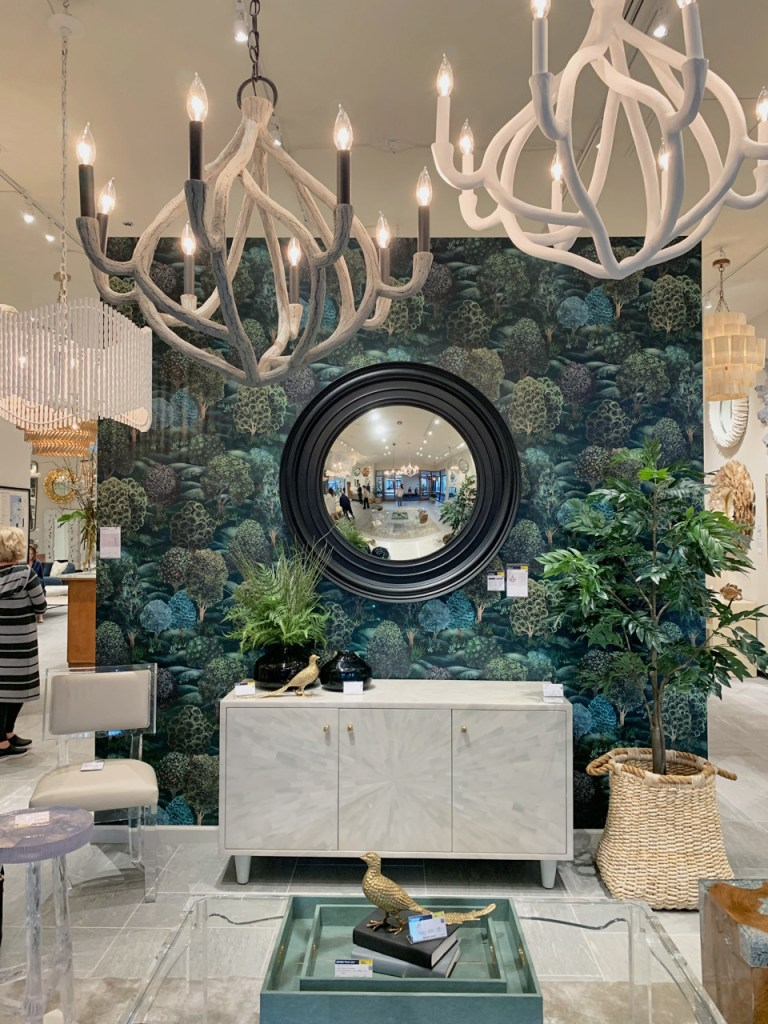 Forest greenery wallpaper at Highpoint Market