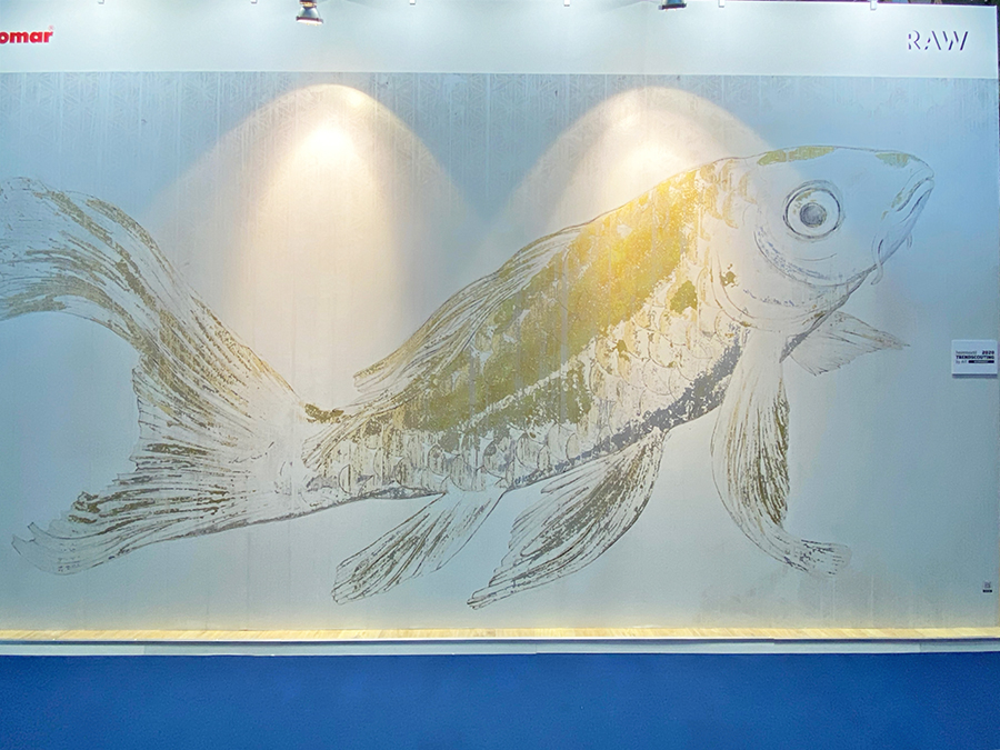 large scale fish mural