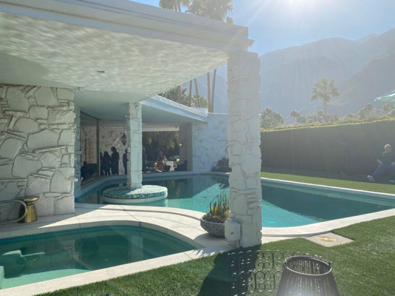 mid century pool and jacuzzi