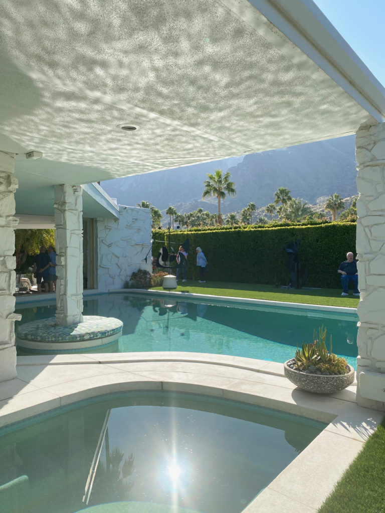 Palm Springs mid century modern indoor/outdoor pool and jacuzzi