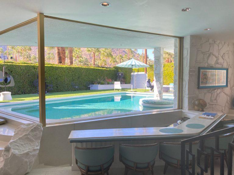 Swim up sunken bar - Morse House, William Krisel/Hal Levitt architects