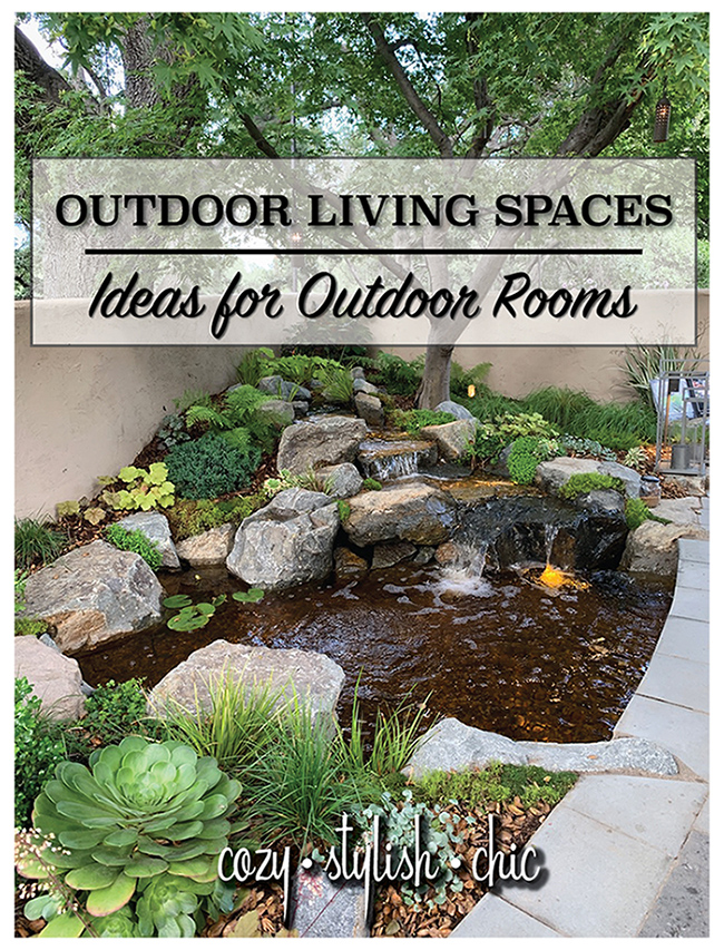 Outdoor Living Space Ideas showcasing a variety of design styles and useful tips on how to create an intimate outdoor room | Cozy Stylish Chic
