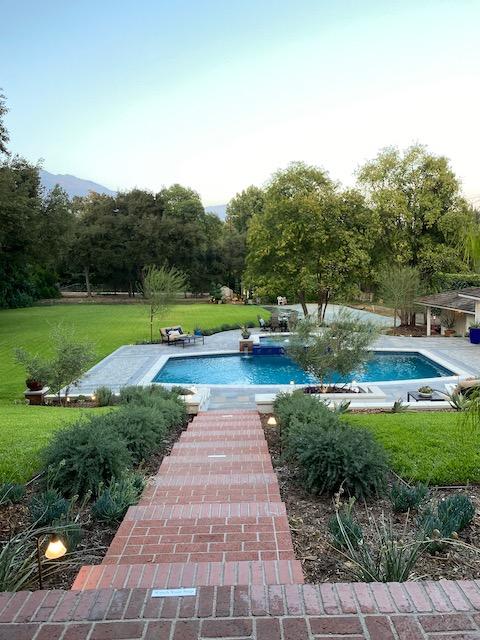 2020 Pasadena Showase House pool -after