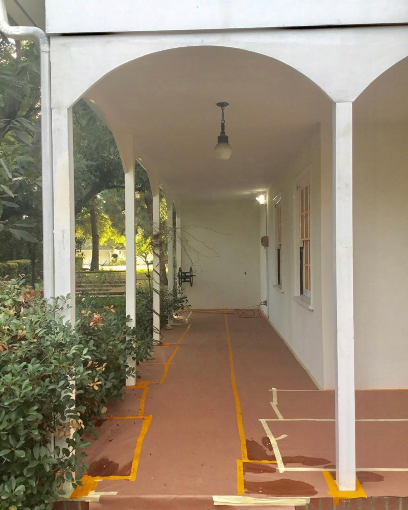 outdoor loggia - before renovation