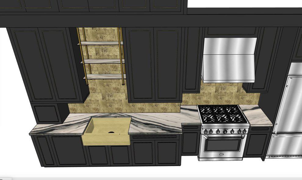 Slab layout - Pasadena loft kitchen