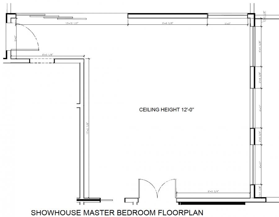 Original bedroom floorplan