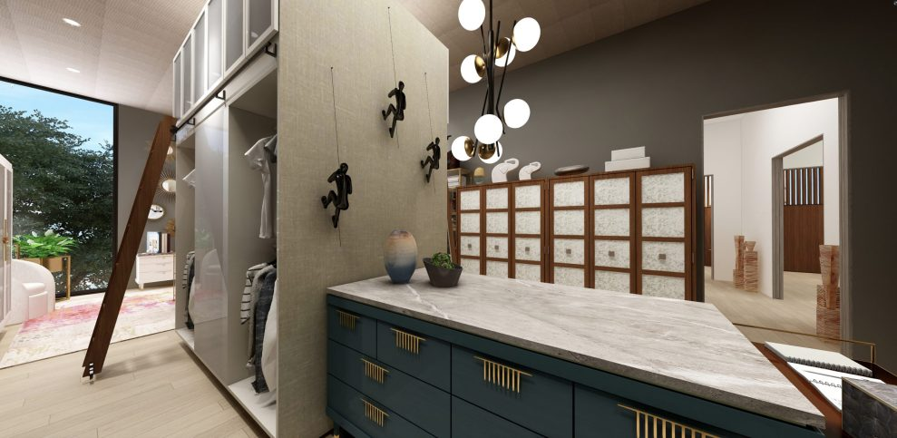 His and Hers closet designed by Jeanne K Chung
