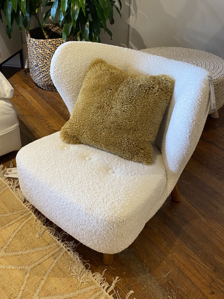 Boucle and Shearling trend - High Point Market furniture trends 2021