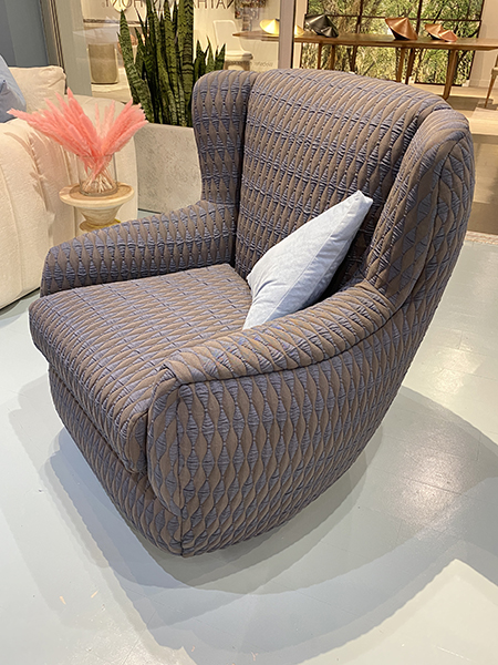 Modern wingback chair - High Point Market furniture trends 2021