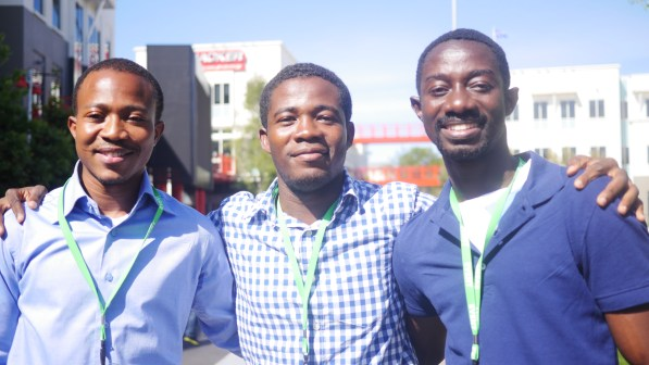 From L to R Kamil Nabong, David Osei, Philips Effah