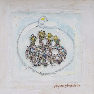 Okun-Omo-Iya-mixed-media-on-canvas18-x-18-inches-2014-by-Adeyinka-AKINGBADE-