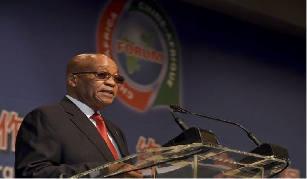 Jacob Zuma addressing the gathering. Image Credit: Sandton News