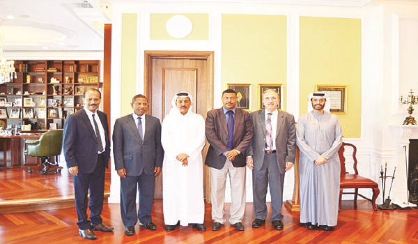 Khalaf Ahmad Al Habtoor with a delegation from Ethiopia. Image Credit: Arab Times Online