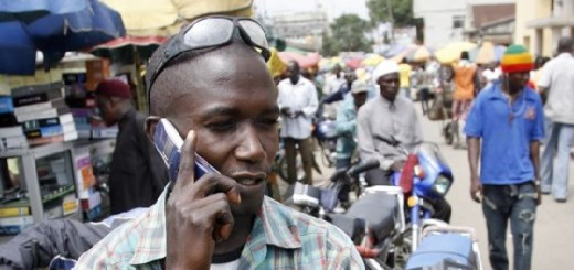 Mobile phone user although not from Rwanda   Image Credit: AFP