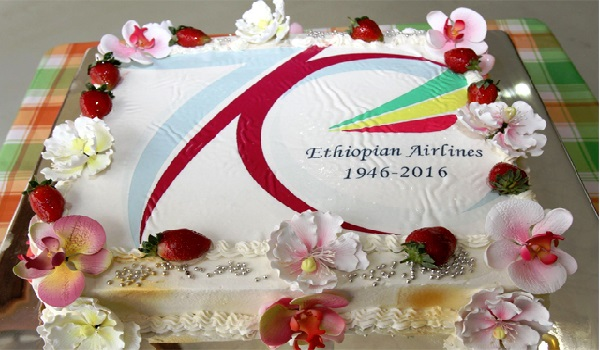 Ethiopian Airlines celebrates 70th anniversary with this beautiful cake.