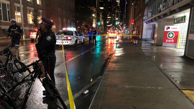 Image result for Man rushed to trauma centre after stabbing in Entertainment District