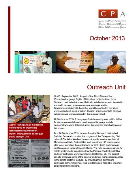Newsletter October