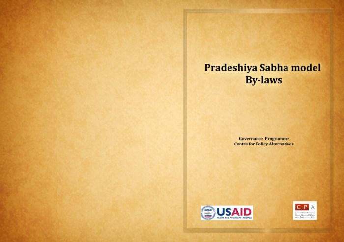 Book 1 Pradeshya Sabha model By-laws english