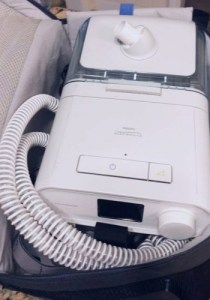 cpap machine in travel case