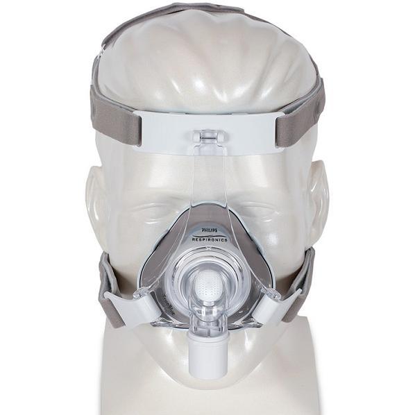 Philips-Respironics CPAP Nasal Mask : # 1071800 TrueBlue Gel with Headgear . Petite